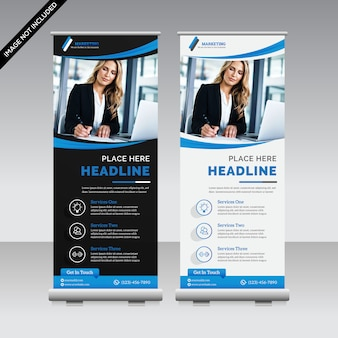 Creative roll up banner premium