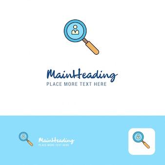 Creative search avatar logo design