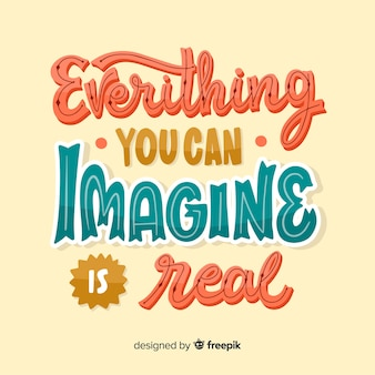 Creatividad letras cita fondo dibujado a mano diseño
