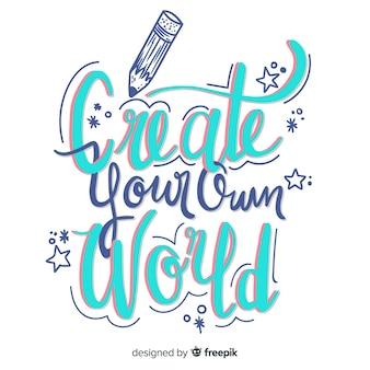 Creatividad letras diseño dibujado a mano