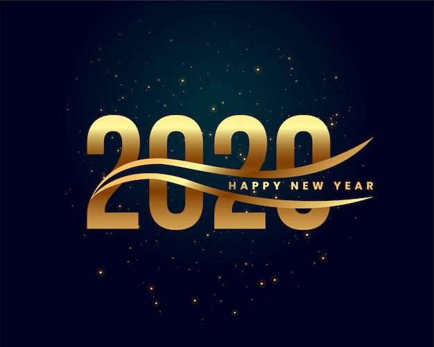 Creativo 2020 feliz año nuevo fondo dorado