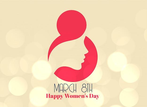 Creativo 8 de marzo feliz día del diseño de la mujer.