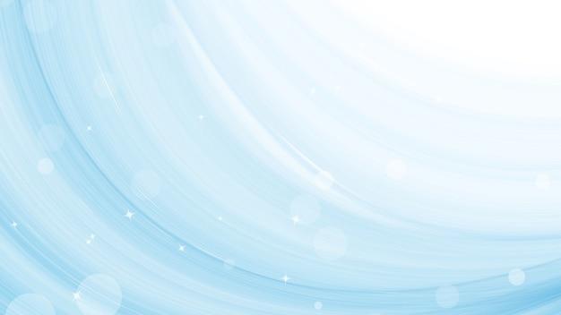 Creativo abstracto moderno con estrella de luz sobre fondo de pincel de acuarela de onda azul.