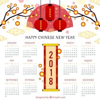 Creativo calendario de año nuevo chino