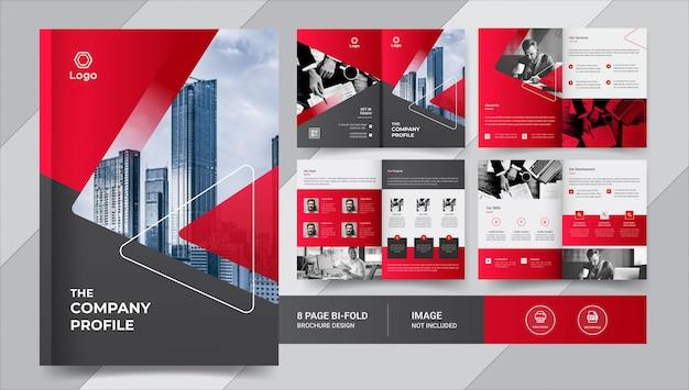 Creativo diseño de folleto comercial de 8 páginas