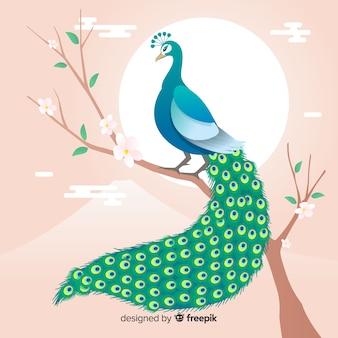 Creativo diseño de pavo real