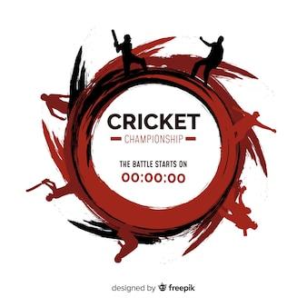 Creativo fondo de campeonato de cricket