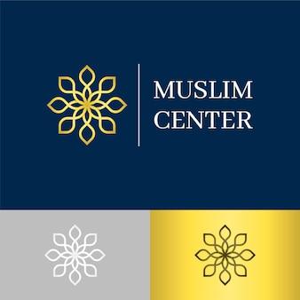 Creativo logotipo islámico en dos colores.