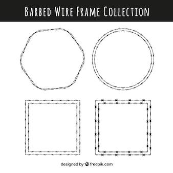 Creativo pack de marcos de alambre de espina