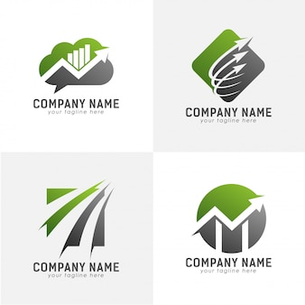 Crecer con el logotipo de la flecha