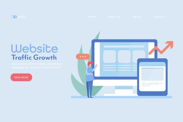 Crecimiento del tráfico del sitio web