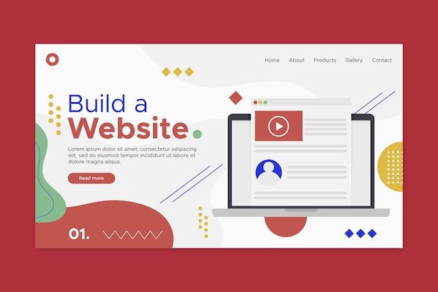 Cree una página de destino para un sitio web