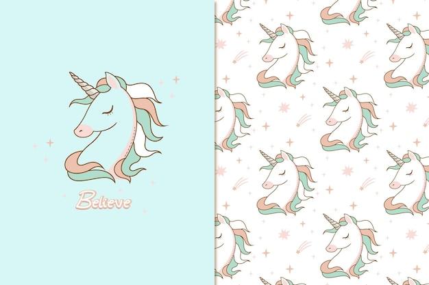 Cree en el patrón de unicornio