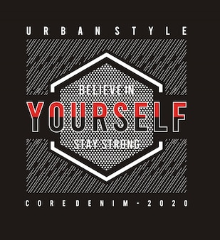 Cree en ti mismo tipografía