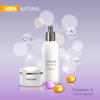 Crema 100% natural con banco de vitamina c y spray.