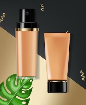 Crema base cosmética realista
