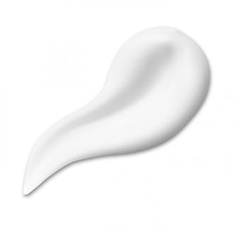 Crema cosmética frotis de textura. muestra de gota cremosa