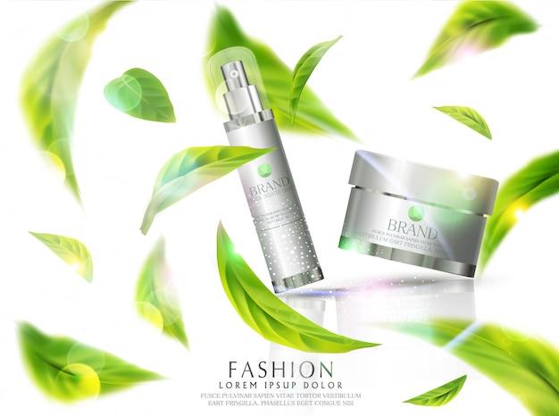 Crema cosmética para rostro y cuerpo.