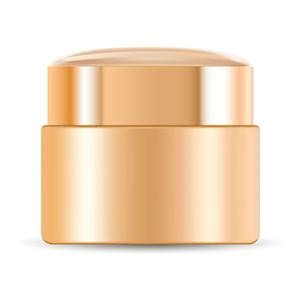 Crema frasco para cosmética. maqueta de contenedor de vectores