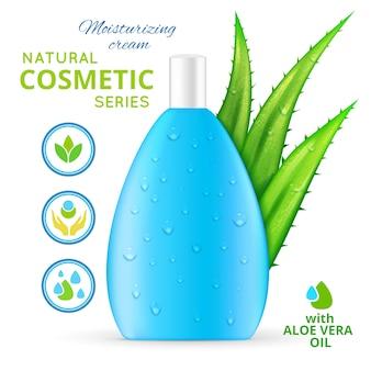 Crema hidratante cosmética natural diseño