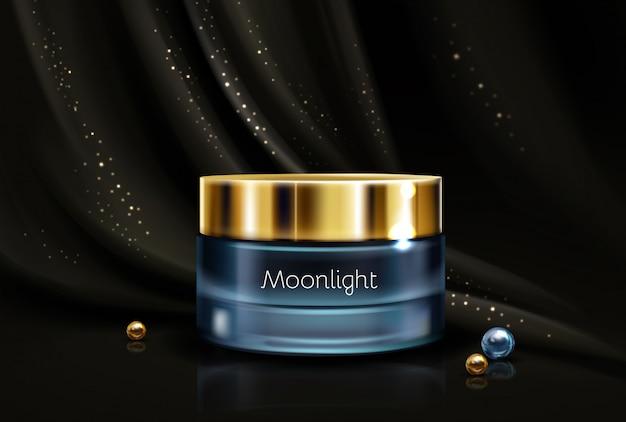 Crema hidratante cosmética nocturna.
