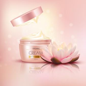 Crema orgánica con flor de loto