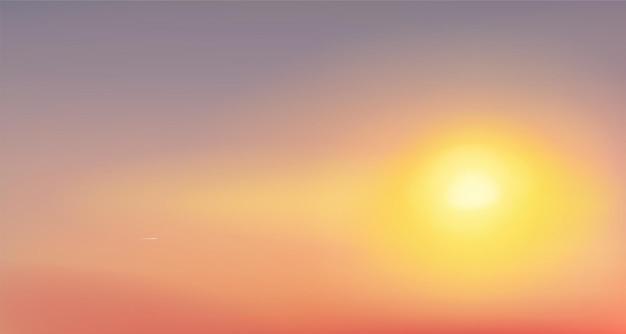 Crestas de las montañas ilustración vectorial de la luz del sol
