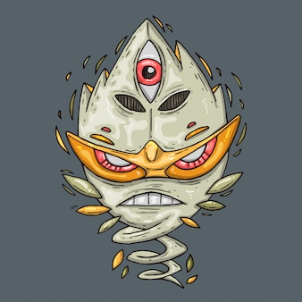 Criatura de hadas, ilustración de dibujos animados.
