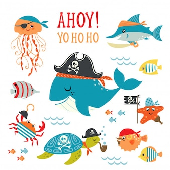 Criatura mar marina pirata
