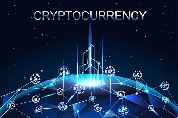 Criptomoneda dinero digital conectado