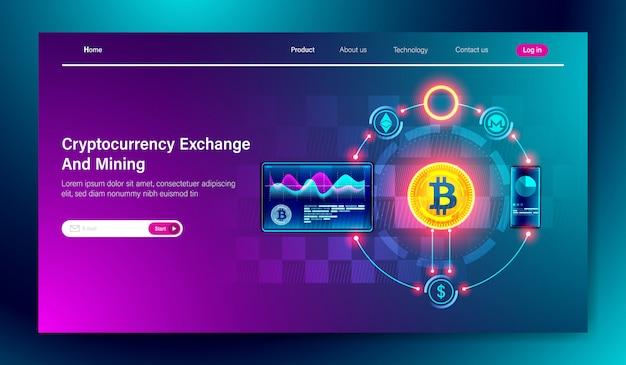 Criptomoneda de intercambio y tecnología de minería de bitcoin