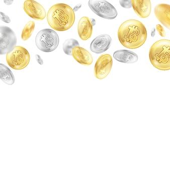 Criptomoneda monedas realista