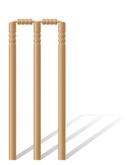 Criquet wickets vector illustration