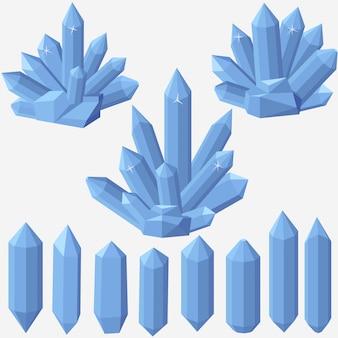 Cristal de cuarzo geométrico.