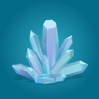 Cristal geométrico de cuarzo.