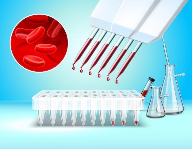 Cristalería de laboratorio y composición de pruebas