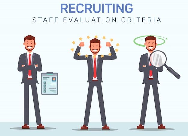 Criterios de evaluación del personal