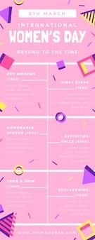 Cronología del día de la mujer similar a un niño en memphis