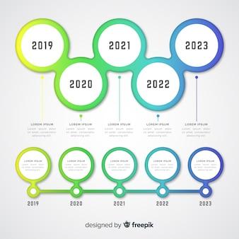 Cronología gradiente infografía profesional