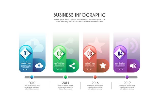 Cronología gradiente infografía