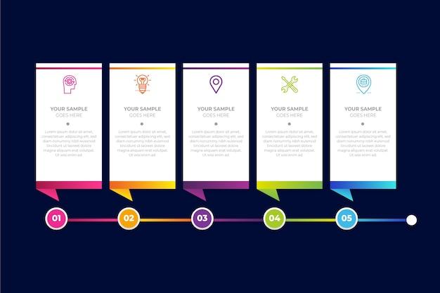 Cronología de negocios de infografía