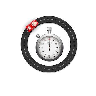 Cronómetro y carrera