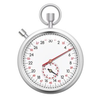 Cronómetro realista en blanco