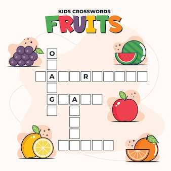 Crucigrama en inglés para niños