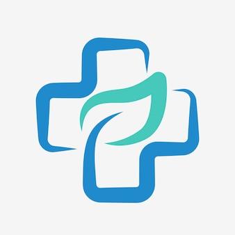 Cruz médica del vector del diseño del logotipo del hospital