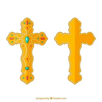 Cruz ornamental plana