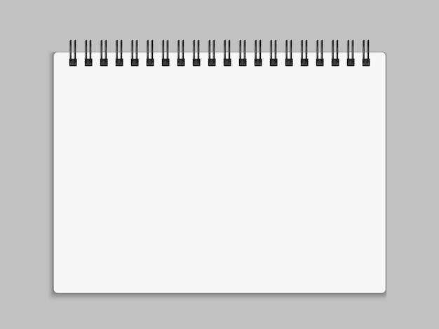 Cuaderno abierto en blanco. ilustración