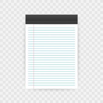 Cuaderno con copia espacio