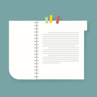 Cuaderno diario de la ilustración del vector del icono