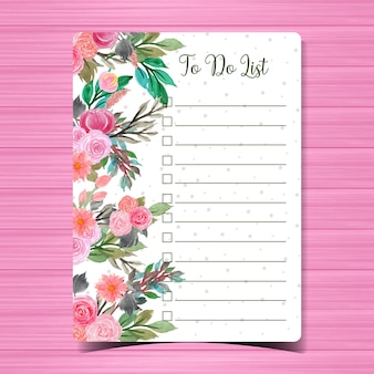 Cuaderno con flores